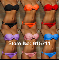 2014 Summer Sexy Bikini Women Swimwear Fashion Occidental Secret Beach Wear Swimsuit Seven Colors S M L #PA019