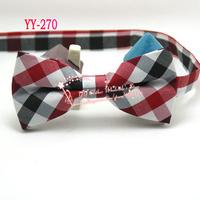 Drop Shipping,Men Old school Vintage Red/balck/white Medium check pre-tied adjustable Tuxedo bowtie,mens Bow tie/butterfly,YY-52
