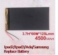 3766125 polymer lithium battery diy mobile power  for apple   ipad3 4200 3.7v flat