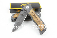 Free shipping Browning 339 black cooleye folding knife stainless steel kitchen chef knife