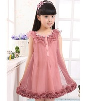 South Korean fashion children girls child laciness sleeveless Princess temperament yarn skirt
