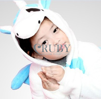 Free Shipping Hot Unisex Kigurumi Pajamas Animal Pyjamas Children Onesies Anime Cosplay Costumes Sleepwear For Kids,Blue Unicorn