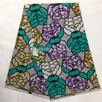 African Fabric Dutch Real Wax Block Print Super Wax 6 Yards.lot 100% Cotton Fee Shipping Amy4987-19