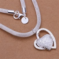 Free Shipping 925 Sterling Silver Necklace Fine Fashion Cute Silver Jewelry Necklace Chains Pendant Top Quality SMTN270