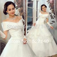 2014 fashion princess sweet bag wedding dress,royal vintage wedding dress