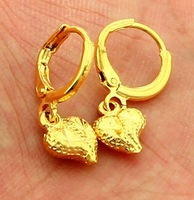 New Fashion 24K Gold Plated Earring Yellow Gold Golden Earring Women Wedding Gift Free Shipping YHDE011