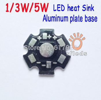 200pcs/lot 1W 3W 5W High Power LED Heat Sink Aluminum Base Plate PCB for LED bulb lamp lighting Free shipping