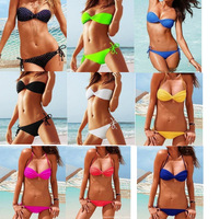 2014 new sexy usa secret neon lining pad swimsuit the bathing suit discount monokinis bandage vs bikini swimwear for women