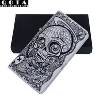 Trend doodle wallet skull male medium-long women's handbag non-mainstream personality