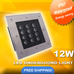 DHL Free shipping 12W led underground lamp CE&RoHS IP67 aluminum inground lamp Warm white/cold white/RGB 10Pcs/Lot(China (Mainland))