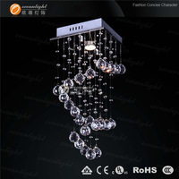 Hot sales Dia 25  H50 modern crystal chandeliers ,contemporary mini chandelier,  free shipping OM6819