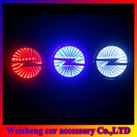 Free shipping 3D laser car logo decorative lights For Opel Series car badge LED lamp ghost shadow light car emblem led light