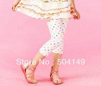 free shipping Wholesale baby leggings girls polka dot pants baby leggings kids trousers  5pcs/lot