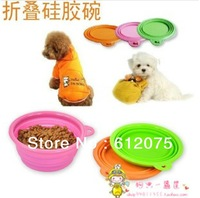 100PCS/lot  dhl free shipping silicone pet folding bowl