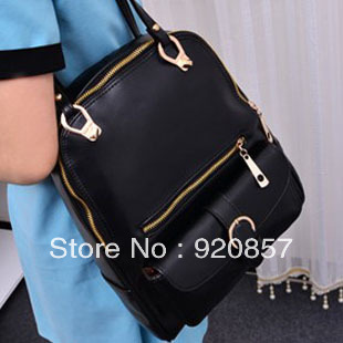 Vintage preppy style backpack school bag backpack multi-purpose women's one shoulder handbag(China (Mainland))