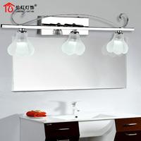 Flower led mirror light stainless steel modern brief fashion bathroom bedroom lamp 6010a