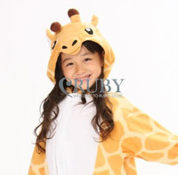 Free Shipping Hot Unisex Kigurumi Pajamas Animal Pyjamas Children Onesies Anime Cosplay Costumes Sleepwear For Kid,Giraffe