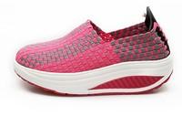 Fashion Knitted Swing Shoes Women Sport Shoe Breathable Platform Sneakers Nurse Shoes Woman