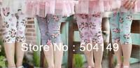free shipping Wholesale baby leggings girls  flower  pants/leggings kids trousers  5pcs/lot