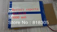 Original Li-ion Battery 3.7v 8000mAH(Approx) for Sanei N10 Quad Core, AMPE A10 Quad Core,Dual Core 3G Tablet PC 40*110*148mm