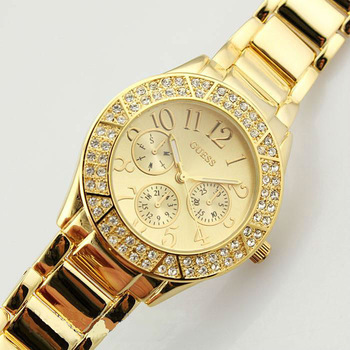 Top brand luxury   4 colours Women's  crystal diamond Watch  Silver / Gold Steel Watch and ladies wrist watch free shipping