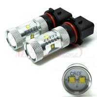 P13W LED 30W Car Foglight Driving Running CREE XB-D Light Bulb Daytime Running Light DC 12V-24V Free Shipping 2pcs/lot