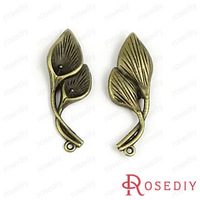Wholesale 37*14mm Antique Bronze Calla  Alloy Charms Pendants Diy Jewelry Findings Accessories 100g,Roughly 30-32pieces(JM1815)
