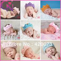 2013 new style 20 piece/lot stretch crochet headband for baby high quality handmade crown headband