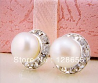 Freshwater pearl earrings latest-designed earrings freshwater pearl jewelry   Free shipping