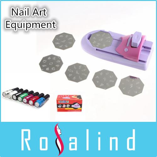 Rosalind New 2014 Nail tools Nail Art Printer DIY Pattern Printing Manicure Machine Stamp Stamper Tool Set H8020 Free Shipping(China (Mainland))