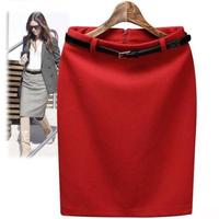 New Arrival 2015 Spring Summer Women Business Bodycon Skirt Pencil Slim Hip High Waist Skirt OL Pencil Skirts S M L XL XXL XXXL