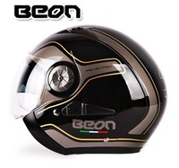 BEON216 fashion flip open half helmet motorcycle helmet UV-400 Material Black Blue White Free shipping M, L, XL