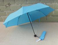Top Quality umbrella, sky blue umbrella for sunny and rainy day, free shipping