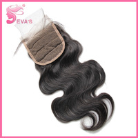 "Top Lace Closure Body wave Virgin hair,Grade 6A lace closure swiss lace 4""* 4"",Can be Dyed Free Shipping"