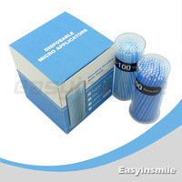 Free shipping easyinsmile 400 Pcs Disposable Micro Applicator Brush Bendable Regular Blue Dia.2.5 MM for dentist