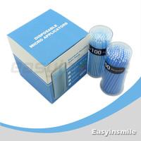 Free shipping easyinsmile 400 Pcs Disposable Micro Applicator Brush Bendable Regular Blue Dia.2.5 MM for dentist