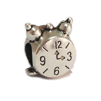 Минимальный заказ $ 10 Бесплатная доставка 1шт малый будильник сплав шарик Подвески Fit Бьяджи браслет ожерелье Оптовая B55