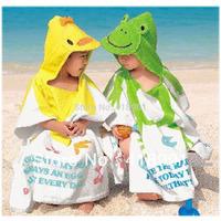 Japanese Brand Baby Cute Animal Hooded 100% Cotton Bathrobe/Bath Towel/Beach Towel,Free Shipping Wholesale and Retail
