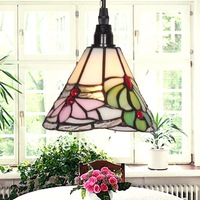 Free Shipping  Floral Mini Tiffany Glass Pendant Light  Light Fixtures Modern