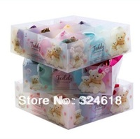 Underwear storage box cute foldable storage boxes lots of shelves containing boxes 3pcs/lot good quality
