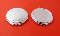 20pcs 60MM Blank DIY Compact Mirror DIY Portable Metal cosmetic mirror Silver -Free Shipping