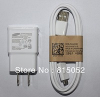 lots 10 set  USB Cable+ 2A US/EU Plug Wall Charger For Samsung Galaxy S4 I9500/Galaxy S3 I9300/Galaxy Note2 N7100