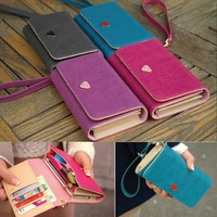 Envelope Card Wallet Leather Purse Case Cover For Samsung Galaxy S2 I9100 S3 I9300 S4 i9500