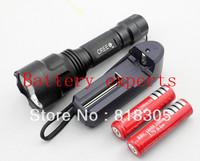UltraFire C8 Cree XM - L T6 5 - Mode 1300 lm Led Flashlight Torch (2 * 18650), 4200 mah