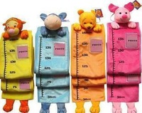 Free Shipping Animal Stuffed Plush Children Ruler Growth Chart, Baby Measure Height ETWJ023