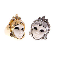 Min.order is $15 (mix order) Hot! Fashion Cute Egypt doll Mysterious Style Ring, Inner dameter 17mm
