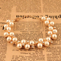 6pcs/lot M2 Free Shipping Pearl Diamond Female Bracelet lab Bijouterie China glObal ACCeSSories Wholesale Vintage Jewellery