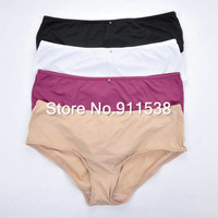 Free shipping 1pcs High quality Plus size panties brief net colored high quality nylon trunk underwear #D293K3
