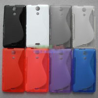 Free Shipping! Best Selling Antiskid S Line Wave Soft TPU Gel Back Case Cover for Sony Xperia ZR M36h C5502, SON-039