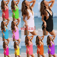 1pc Summer Womens Sexy dress bikini suit, holiday Beach skirt casual dresses sexy swimming wear Ladies' Cover Up beachwear